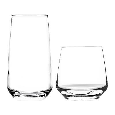 Tallo' 12 Piece Hiball & Tumbler Drinking Glasses Set. 480ml, 345ml