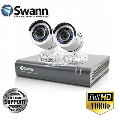 Swann DVR4-4550 - 4 Channel AHD-1080p 1TB DVR + 2x PRO-T853 Cameras CCTV Kit **