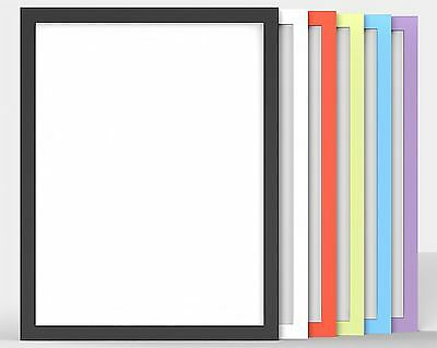 New Modern Flat 100% Wooden Multi Colour Frames Photo Picture Poster Frame Large