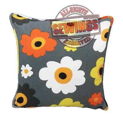 ffa-122 top quality canvas zippered throw cushion pillow covers case w cord