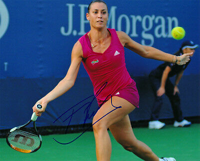 Flavia Pennetta Signed 8X10 Inches Tennis Photo