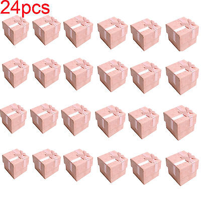 Wholesale 24pcs Ring Earring Square Jewellery Gift Case Boxes Display Package