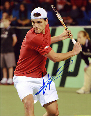 Frank Dancevic Hand Signed 8X10 Inches Tennis Davis Cup Photo