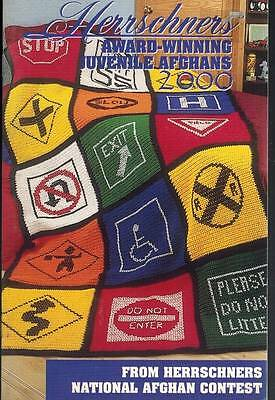 Herrschners Juvenile Afghans 2000 Crochet Knit PATTERNS Road Signs Butterfly ABC