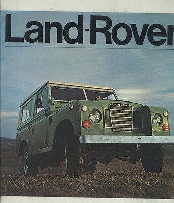 1973 Land Rover Brochure ww3467
