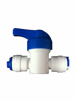 "1/4"" Inline Tap Shut Off Valve - Fits all 1/4"" Fridge Freezer lldpe pipe tubing"