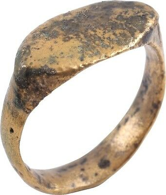 ANCIENT VIKING SOLID BAND RING C.850-1050 A.D. Size 9 1/2