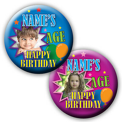 Personalised Girl Or  Boy Age Birthday Badge Present Badge / Magnet / Mirror