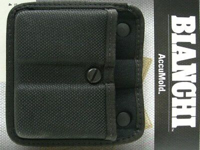 BIANCHI Black 7320 AccuMold Double TRIPLE THREAT II Mag Magazine Group 4 Pouch!