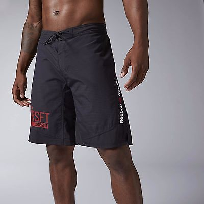 New Men's REEBOK RCF Crossfit Super Nasty Tactical Board Short - AI1493 Black