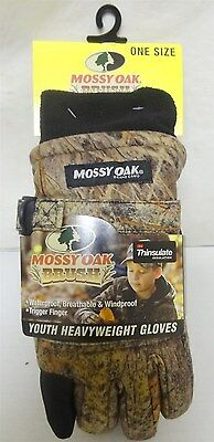Mossy Oak Brush Youth Heavyweight Gloves One Size 90065BR Camo