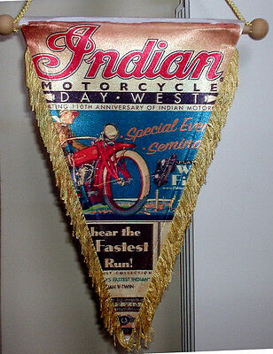 Indian Motorcycles moto 110th anniversary poster Pennant flag 25 cm x17 cm