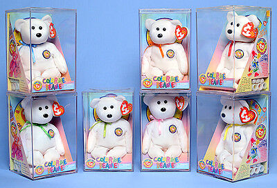 Total of 17 TY Beanie Baby - COLOR ME BEANIE TEDDY BEARS(Complete Kit)