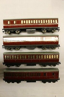 4 x Hornby Meccano Metal Tin JOB LOT Coaches Collectable OO Gauge