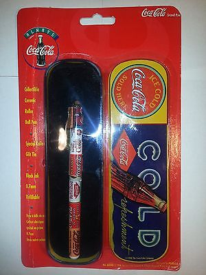 Coke Gift Tin and Pen 1996