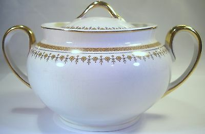 Grindley Sugar Bowl with Gold Tone Flowers