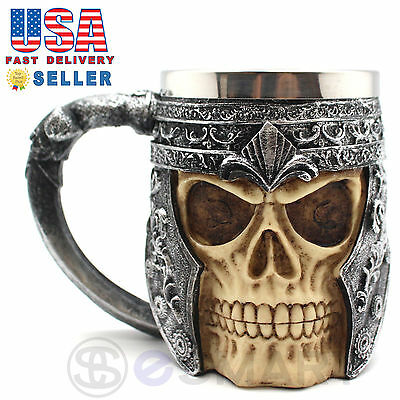 Skeleton Skull 3D Skeleton Tankard Mug Cup Coffee Beer Pirate Gothic Halloween A