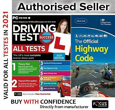2019 Driving Theory Test & Hazard CD Rom DVD Highway Code Book New-ahw