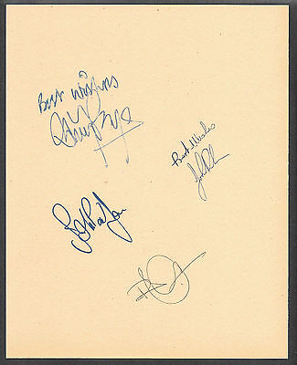 Led Zeppelin Autographs Reprint On Original Period 1960s 8x10 Paper