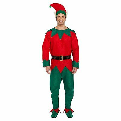Elf Costume Unisex Men Adult Christmas Fancy Dress Santa Helper Xmas New