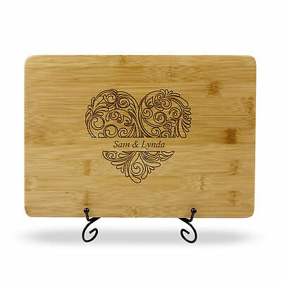 Personalised Engraved Chopping Board Wedding Birthday Engagement Father Day Gift