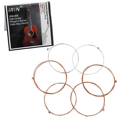 6pcs IRIN A103 0.012-0.053 High Quality Phosphor Bronze Acoustic Guitar Strings