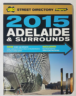 Gregory's Ubd Street Directory 2015 Adelaide And Surrounds - New