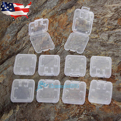 10X Plastic Micro SD TF SDHC MSPD Memory Card Protecter Box Storage Case Holder