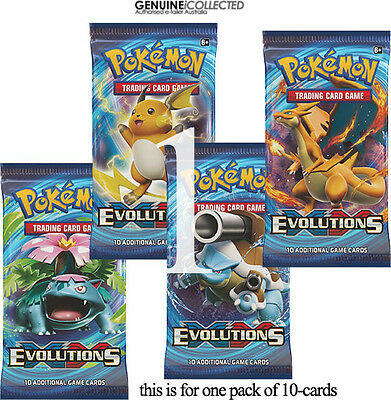 1 Booster Pack XY12 Evolutions Pokemon 10-Cards/Packet | Sealed English Genuine