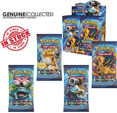 36 Booster Pack XY12 Evolutions Pokemon 10-Cards | Sealed English Genuine BOX