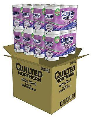 Quilted Northern Toilet Paper Ultra Plush Tissue Unscented 48 Double Roll Septic
