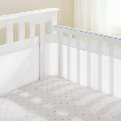 Breathable Baby Mesh Cot Liner Air Flow Airflow White 35cm High