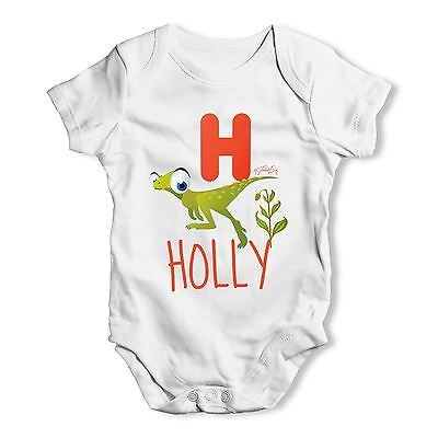 Personalised Dinosaur Letter H Funny One-piece Infant Bodysuit Baby
