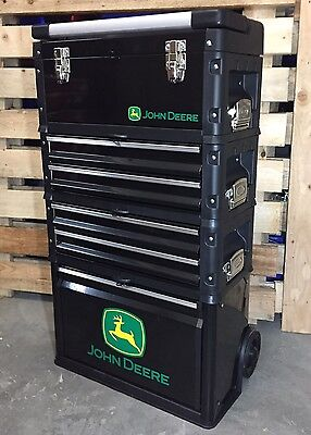 Special Edition John Deere Tractor Mobile Tool Box Chest Trolley 4 Piece Cabinet