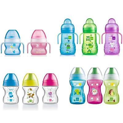 MAM Baby Trainer Bottle First Cup Spout Starter Learn to Drink 150ml to 270ml
