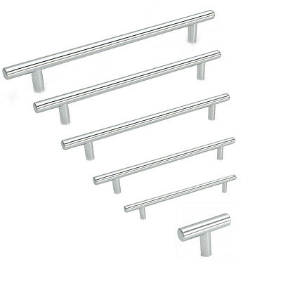 Cosmas 305-224CH Polished Chrome Cabinet Hardware Euro Style Bar Handle Pull 10 Pack 224mm 10 Pack Hole Centers 8-7//8 11-3//16 Overall Length 11-3//16 Overall Length 305-224CH