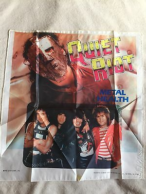 MAKE OFFER - Quiet Riot Color Wall Tapestry - Metal Health 1984 80's Hair Band