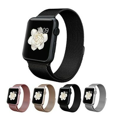 Milanese Loop Magnetic Buckle Stainless Steel Strap Band For Apple Watch iWatch