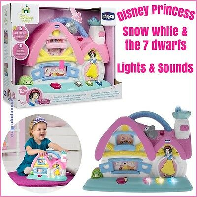 Chicco Snow White and 7 Dwarfs Musical Cottage Disney Princess Light Sound Baby