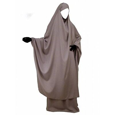 HIGH QUALITY  2 piece Overhead KHIMAR & SKIRT - with niqab option