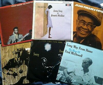 Blind Willie McTell Muddy Waters Fred McDowell/6 x Blues Original LPs As One Lot