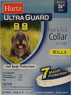 Hartz Ultraguard Flea & Tick Collar For Dogs Fits Necks To 26""