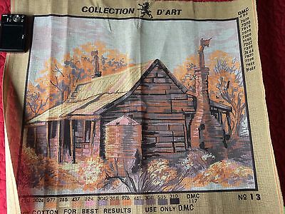 Collection d'Art unfinished canvas tapestry - country cottage