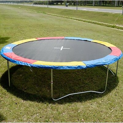 15 FT Trampoline Safety Pad EPE Foam Spring Cover Frame Replacement Multi Color