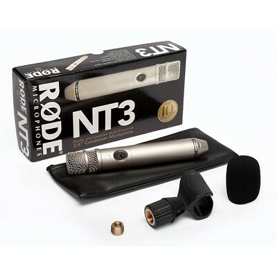 RODE NT3 Condenser Microphone for Studio & Location Recording