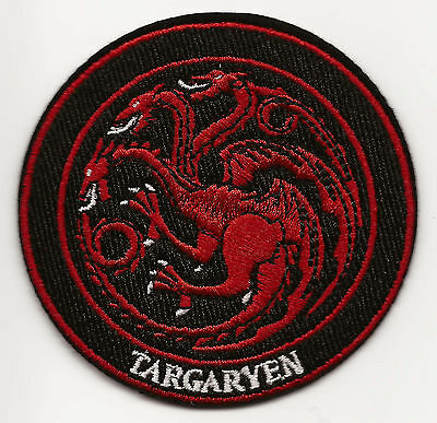 Game of Thrones House Targaryen Iron-on Embroidered Patch 7.5x7.7cm Good Luck