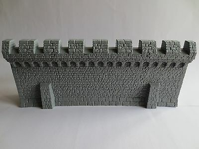 Warhammer Fortress Siege Wall Section Fantasy or LOTR Scenery G01