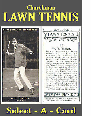 Churchman LAWN TENNIS - Select your card