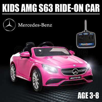 Pink Kid Electric Licensed Mercedes-Benz AMG S63 Child Ride On Car Toy Battery