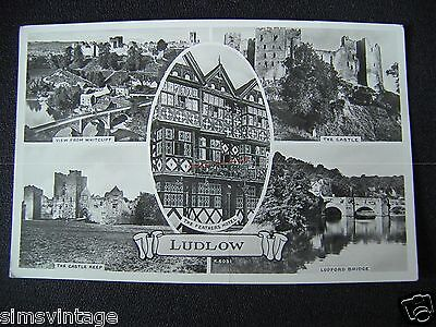 Shropshire Postcard Ludlow Multiview 058